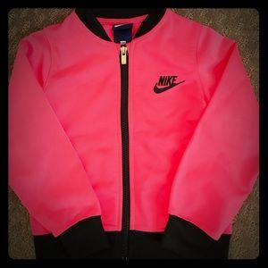 Hot pink track jacket